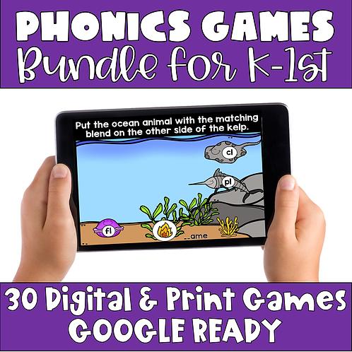 Bundle of Phonics Matching Games - Digital and Print