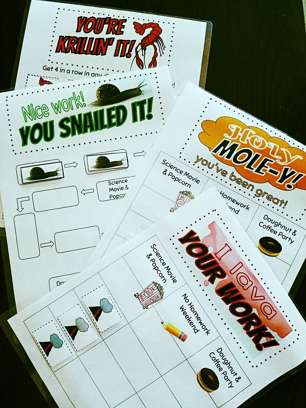 Incentive charts give positive reinforcement to students and provide classroom management.