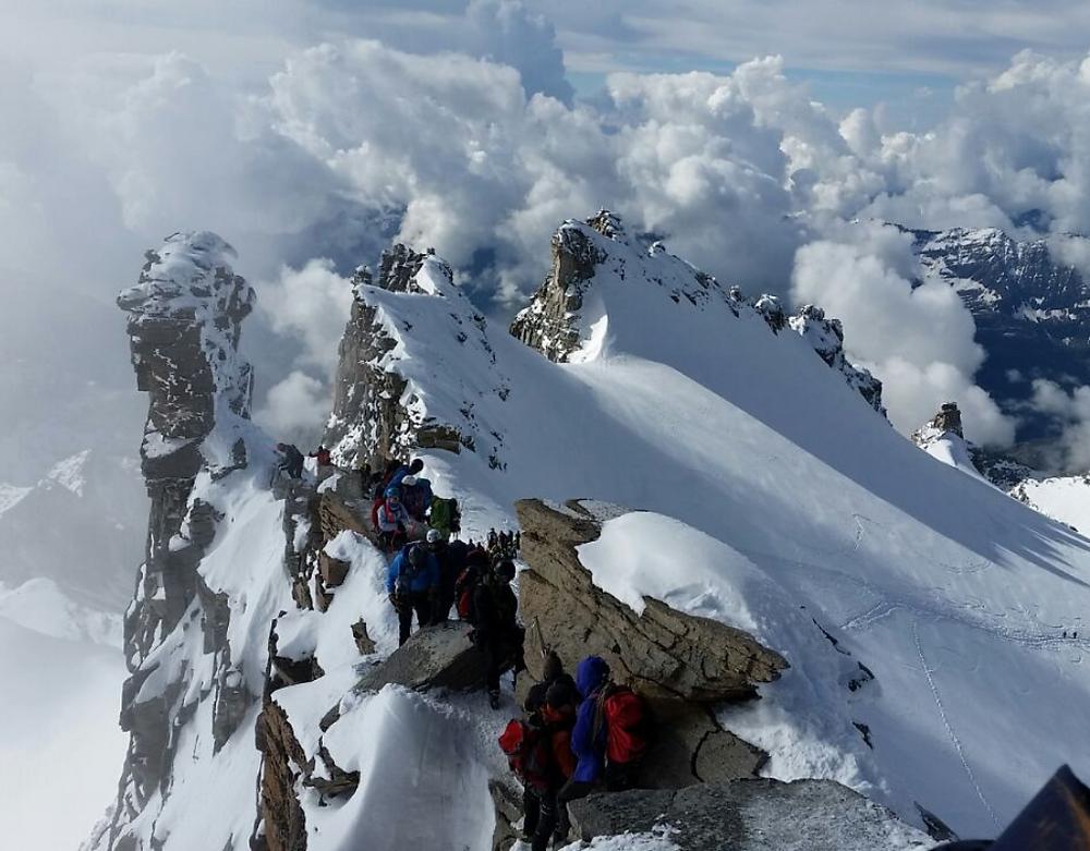 mountain, Italy, Gran Paradiso, climbing, mountaineering, trekking