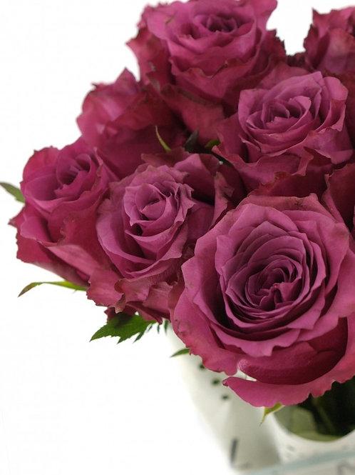 Роза Блуберри (Blueberry) чайно-гибридная фиолетовая роза