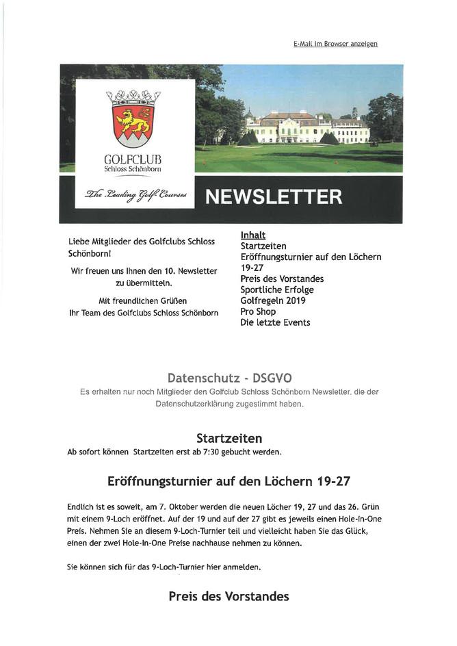 10. Newsletter
