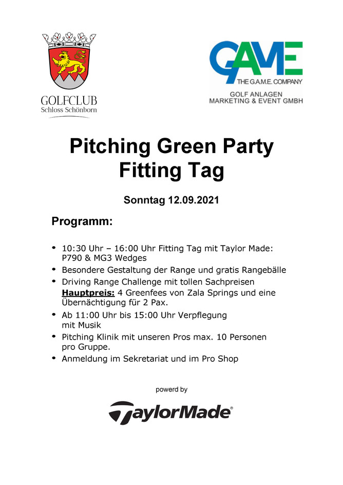 Pitching Green Party