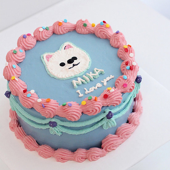Pet Party Time Lace Piping Designer's Theme Birthday Cake