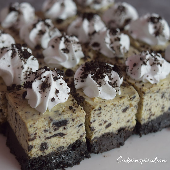 Cookies 'N Cream Cheesecake with REAL bits  ! Canapes in a BOX