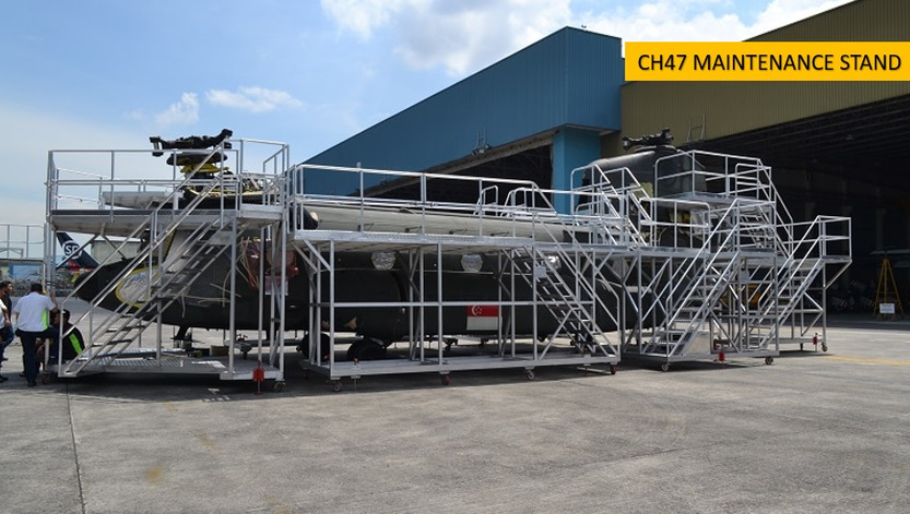 CH47 Maintenance Stand