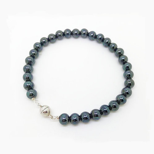 Hematite Bracelet with Magnetic Clasp
