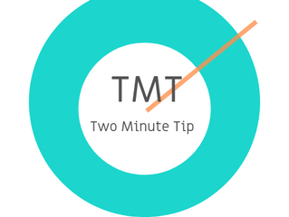 Two Minute Tip #1 - Define your objective