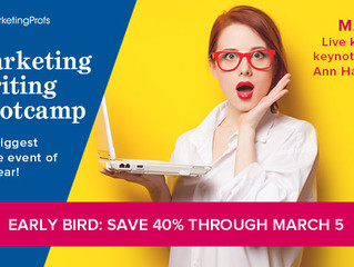 2019 Marketing Writing Bootcamp