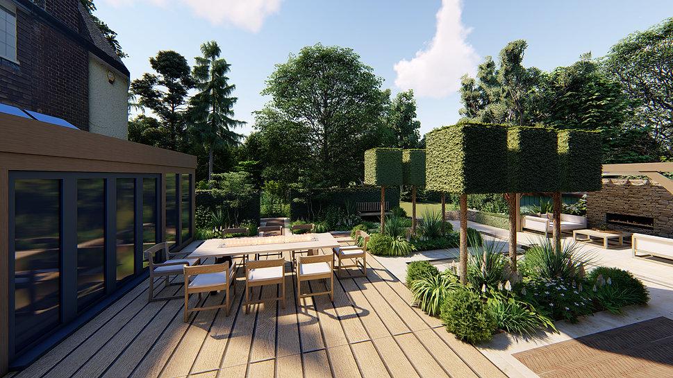 Garden design photo realism