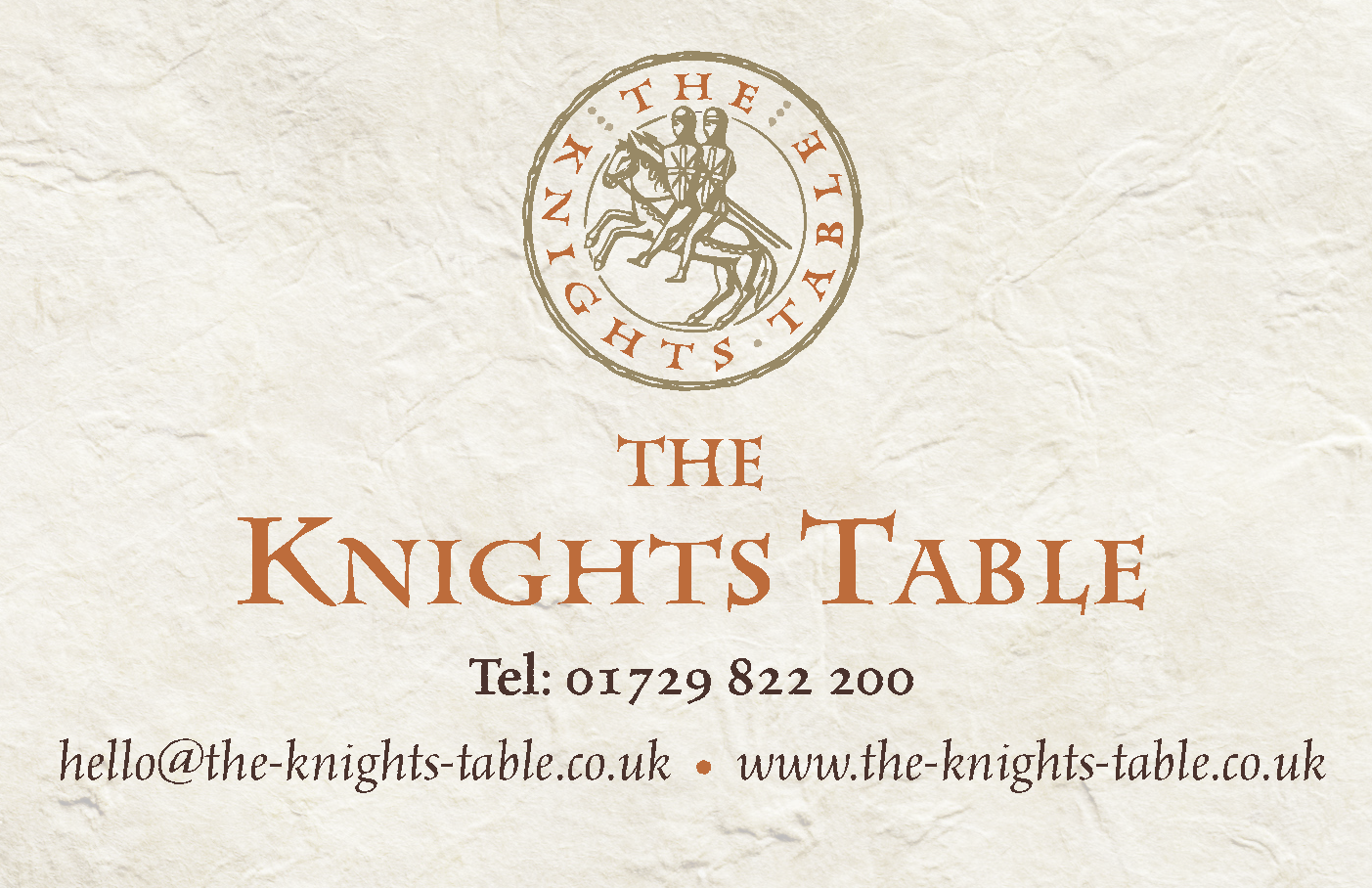 Knights Table BCard