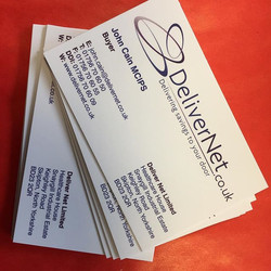 Business Cards for a new customer DeliverNet