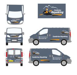 Cumbrian Kayaking  - van graphic design