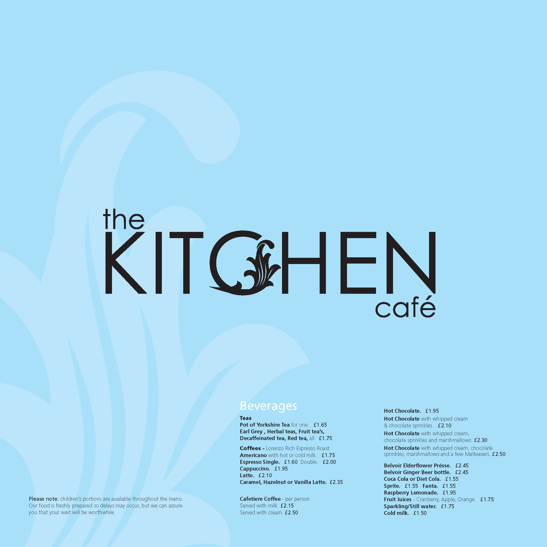 Kitchen Cafe Menu