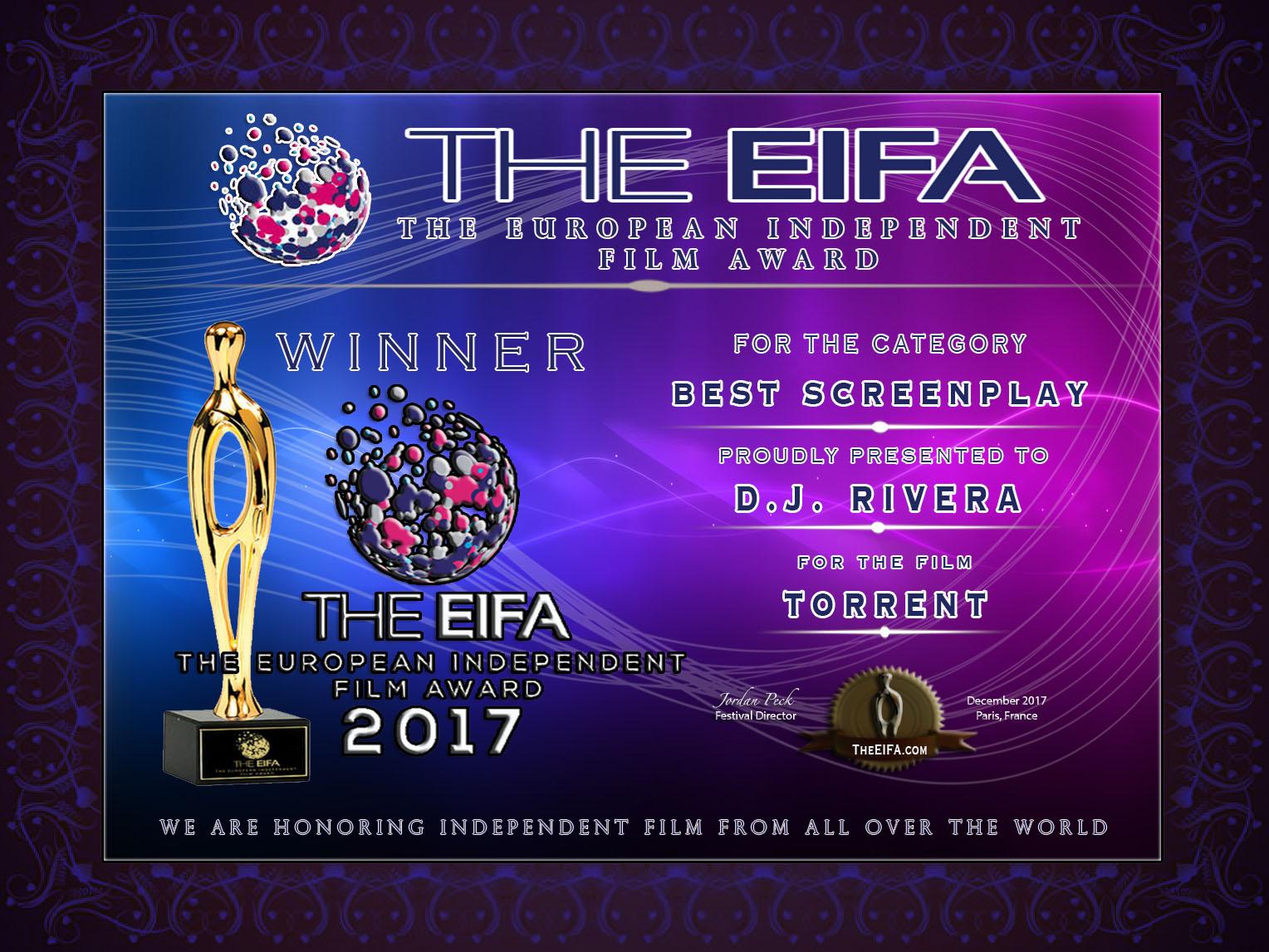 EIFA Best Screenplay Award