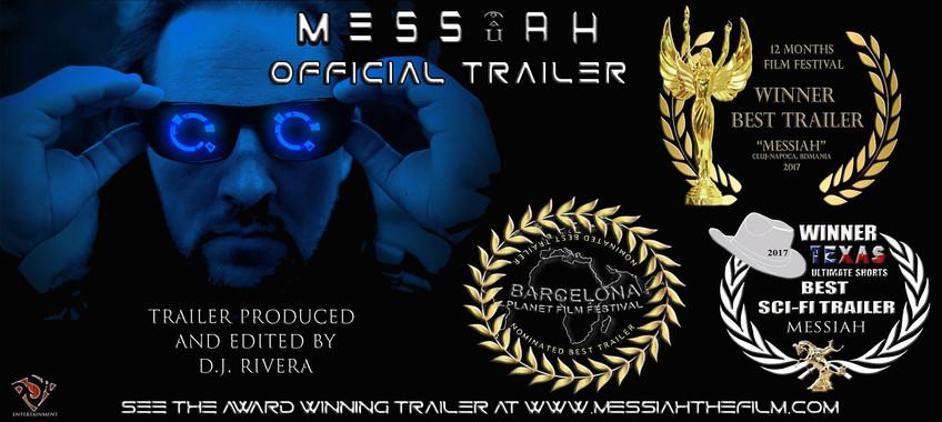 Messiah Official Trailer Award Banner