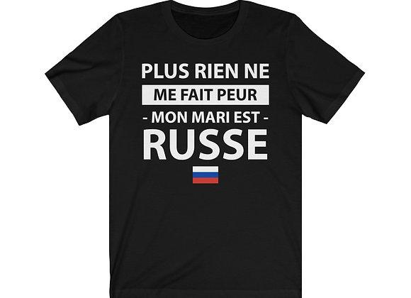 T-shirt MON MARI EST RUSSE