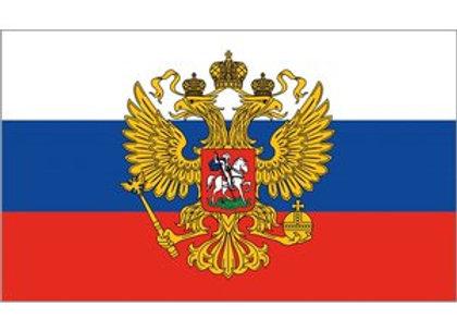 Drapeau Russe avec aigle