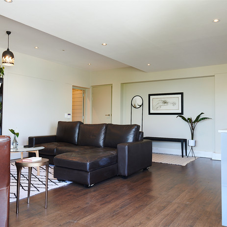 Open-plan living room and kitchen