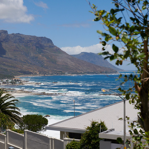 View of Camps Bay beach from the balcony