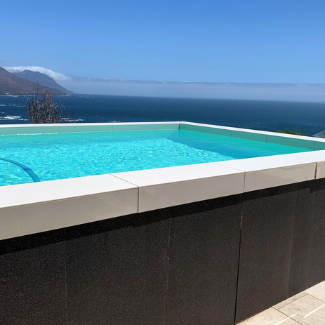 Swimming pool on the deck.