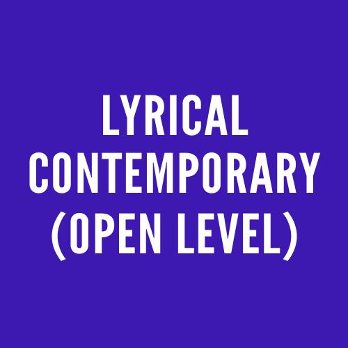 Lyrical Contemporary (Open)