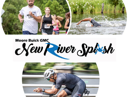 Moore Buick GMC New River Splash Triathlon, Duathlon, 5k & Festival