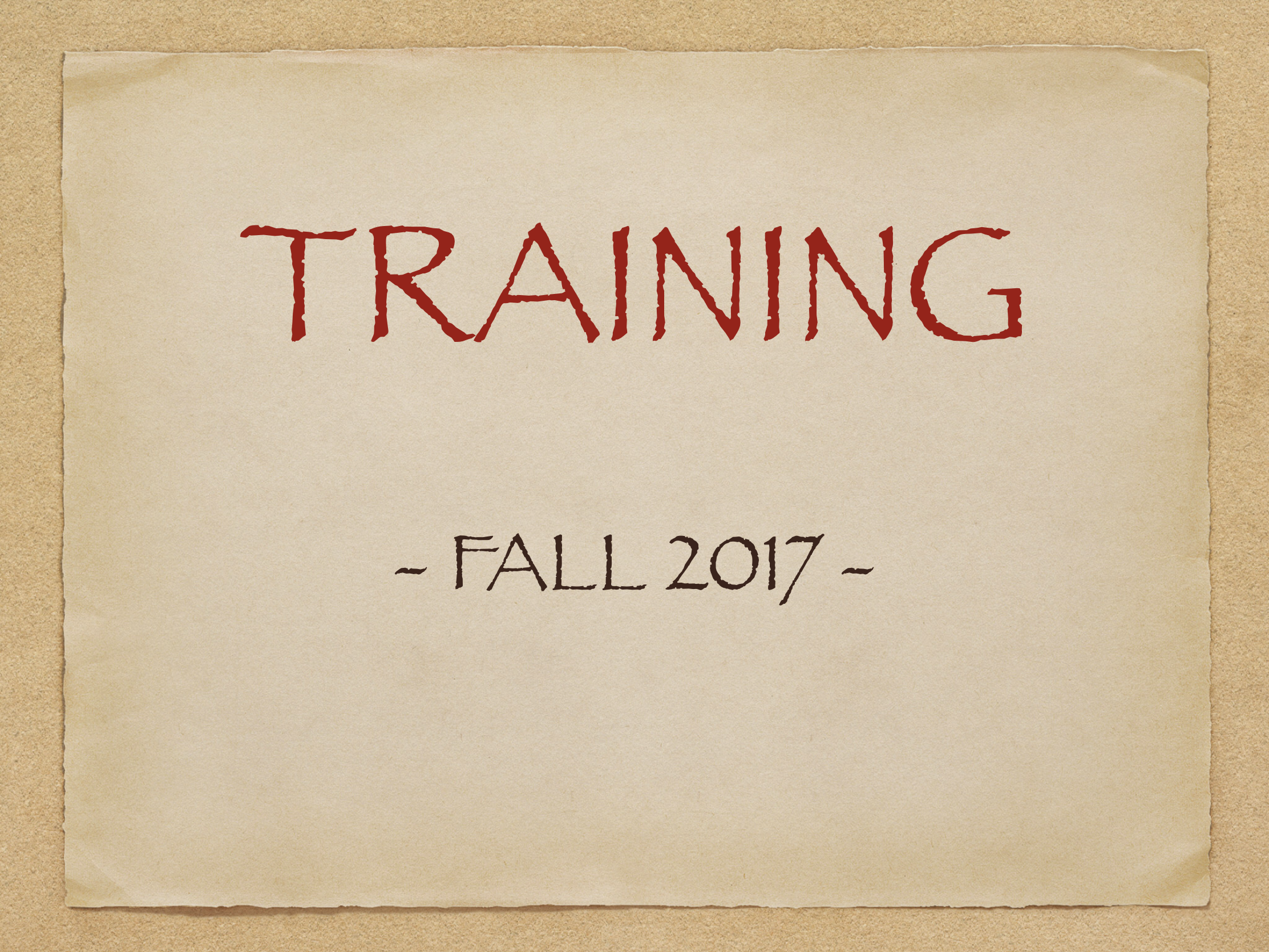 training title