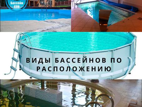 Виды бассейнов по расположению