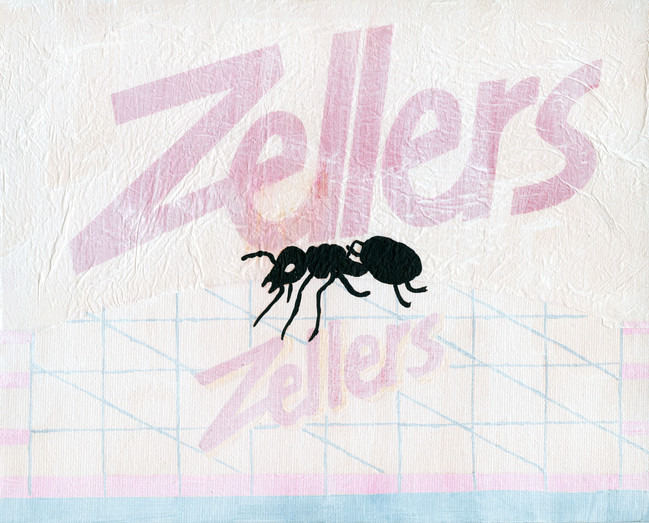 Zellers Ant Acrylic and Plastic on Canvas 8 x 10