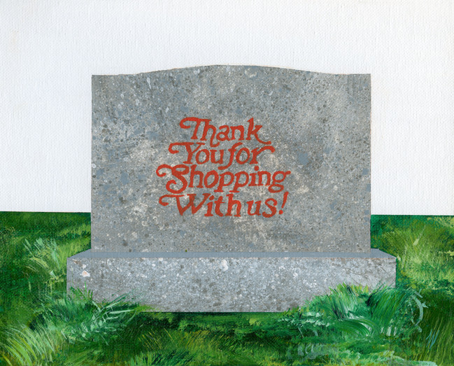 Shop Til' You Drop Acrylic on Canvas 8 x 10