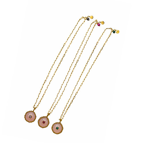 Carved Semi-Precious Gemstone Necklaces