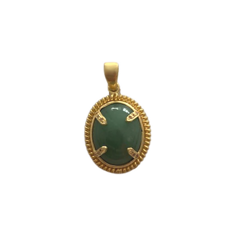 Jadeite and Citrine Pendant
