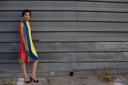 Girl in Striped Dress