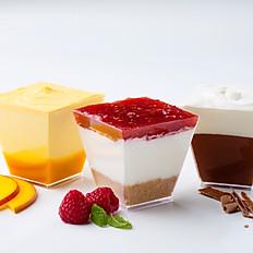 Mango Mousse / Chocolate Mousse /Cheesecake