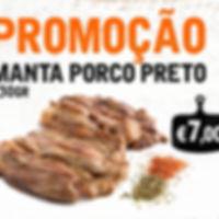 Promoção Manta Porco Preto