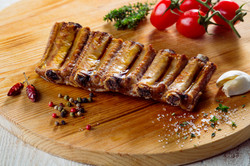 Short black pork rib strip
