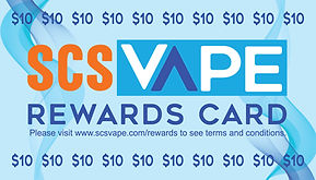 SCS Vape Rewards Card