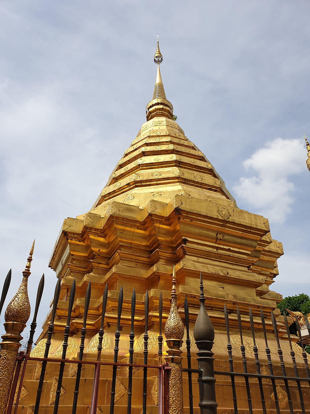 Twin pagoda of Doi  Suthep