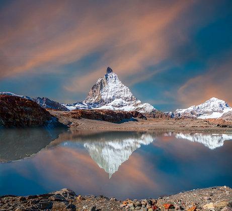 Reflection of Matterhorn, Switzerland