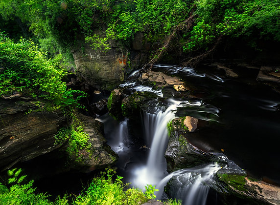 Waterfall At Tin Work Aberdulais, Cardiff, Wales