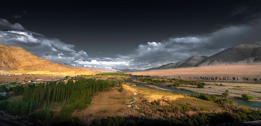 Wide Fields of Leh, India