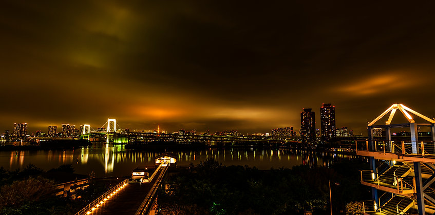 Illuminated Tokyo, Japan