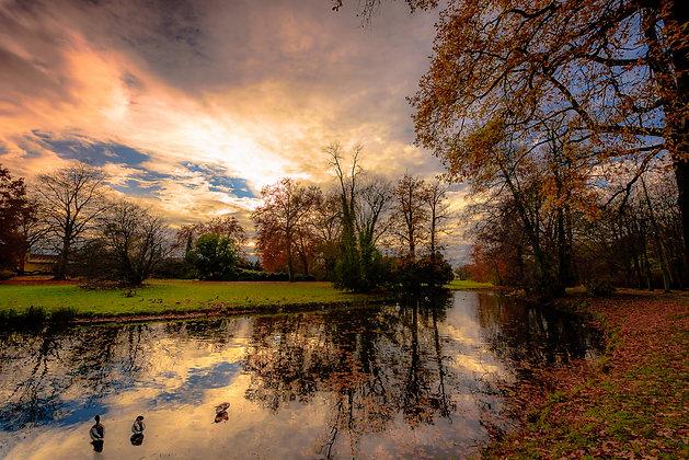 Autumn Sunset at Potsdam, Germany