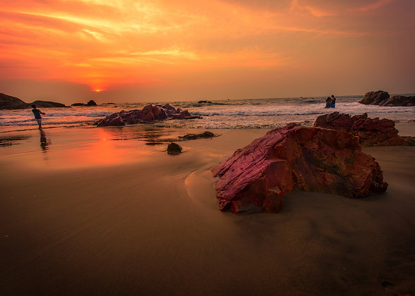 Sunset at Beach, Goa, India