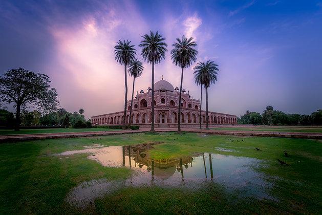 Humayun's Tomb With Reflection, Delhi