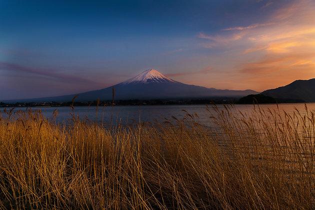 Sunset At Mount Fuji, Japan