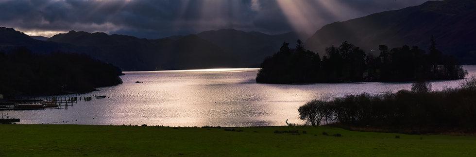 Dance of Sunrays, Cumbria Lake, England
