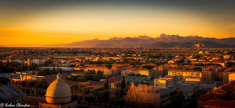 Evening Light of Pisa, Italy