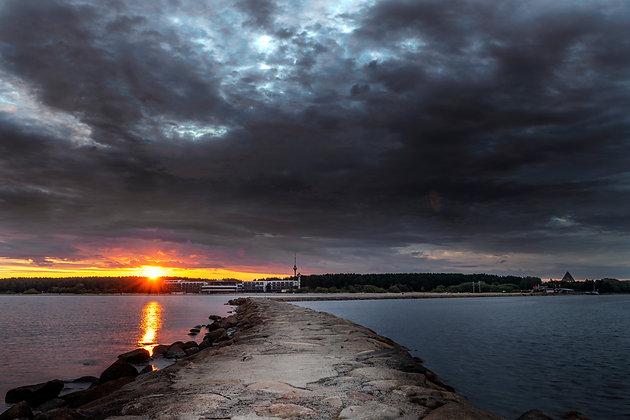 Sunrise at Tallinn, Estonia