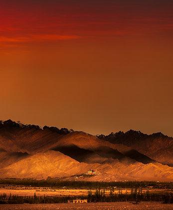 Sunset in Leh, India